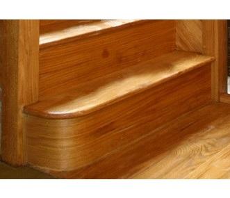 Oak Left Hand Bullnose Step