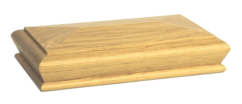 Oak Pyramid Newel Cap 180mm X 90mm