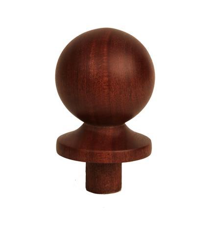 Dark Hardwood Ball Newel Cap 90mm